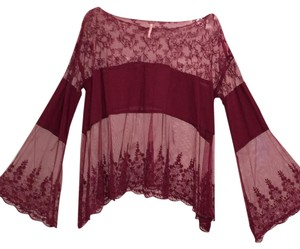 Free People Top Merlot