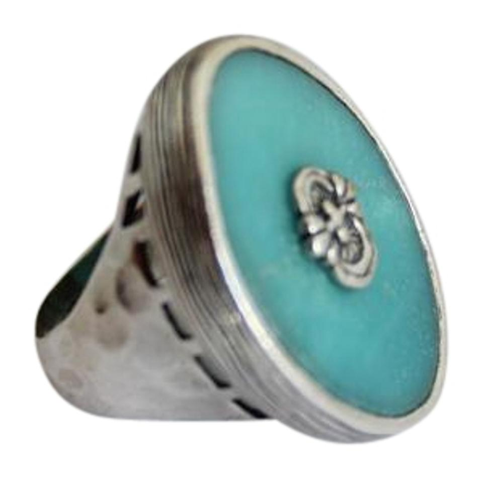 t gold gallery lyst rings amazonite blue meira rose jewelry ring