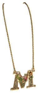 Michal Negrin Michal Negrin 24k Gold Plated M initial Necklace