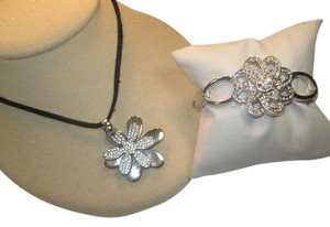 Lia Sophia Great set, silver with crystals, Lia Sophia brand, new