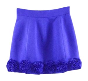 Twelve by Twelve Flower Rosette Mini Skirt Royal Blue