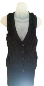 A|X Armani Exchange A/x Faux Fur Plush Faux Fur Faux Fur Sweater Vest