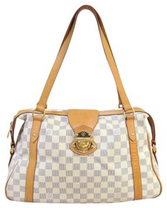 Louis Vuitton Small Lv Tote Canvas Damier Canvas Shoulder Bag