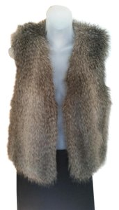 Club Monaco Vintage Faux Fur Faux Fur Holiday Attire Vest