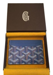 Goyard Classic Saint Sulpice Card Holder Wallet Blue