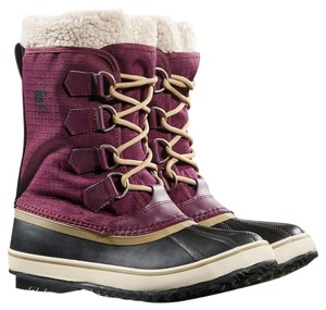 Sorel Winter Faux Fur Purple Boots