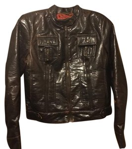 A.B.S. by Allen Schwartz Brown Leather Jacket