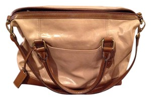 Tignanello Satchel in Tan with dark brown leather