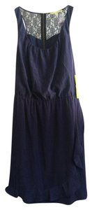 Gianni Bini short dress Navy Blue on Tradesy