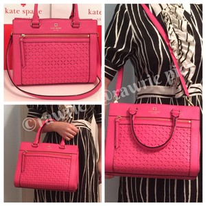Kate Spade Pebbled Leather Leather Tote in Pink