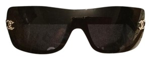 Chanel Black Chanel Sunglasses with crystal CC on the sides