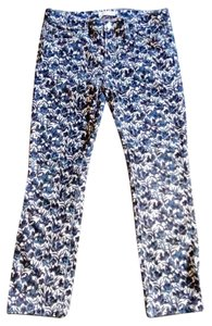 Tory Burch Skinny Pants Blue and black print