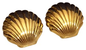 Avon Avon Gold Shell Stud Earrings