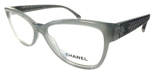 Chanel CHANEL Eyeglasses Mint Quilt Authentic with Case