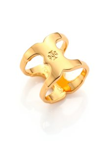 Tory Burch New Tory Burch Gemini Link 16k Gold Plated Ring Size 7