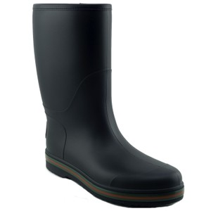 Gucci Rain Boot Interlocking Black Boots