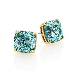 Kate Spade NEW Kate Spade New York Aquamarine Turquoise Glitter Studs Earrings