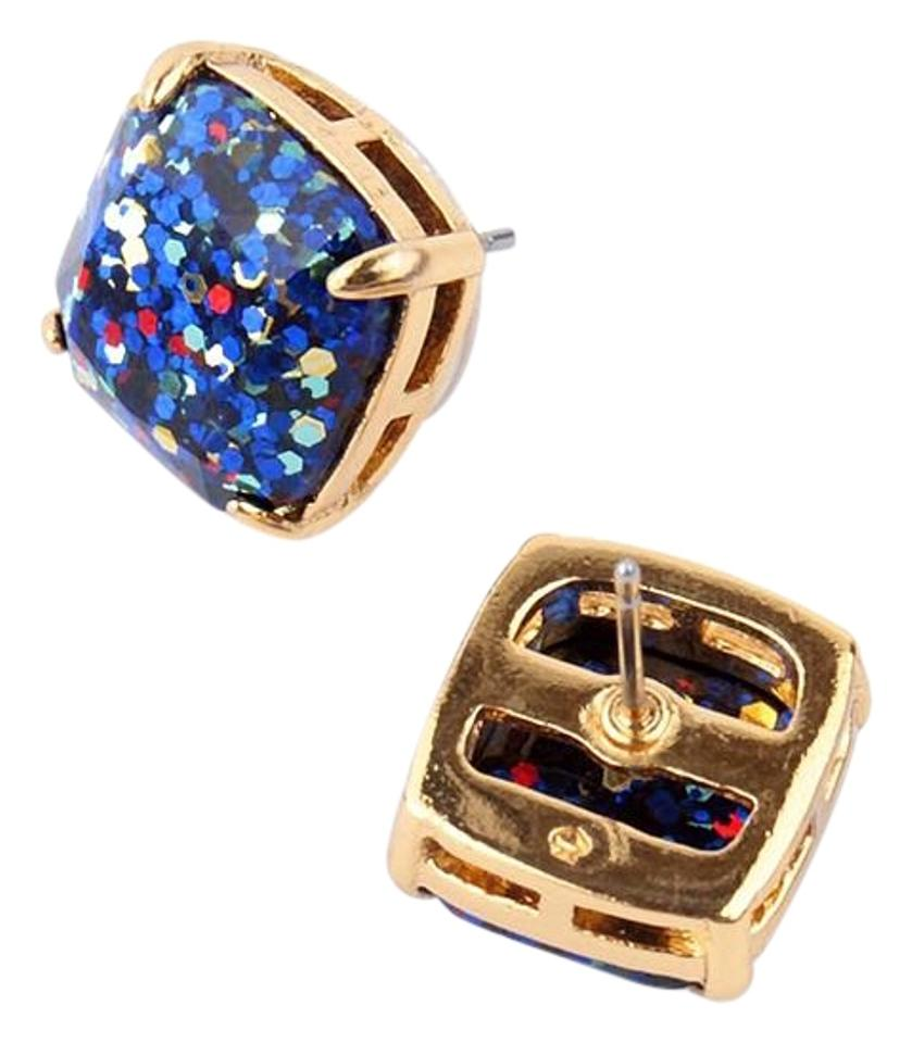 Kate Spade Blue New New York Sapphire Glitter Studs Earrings Tradesy