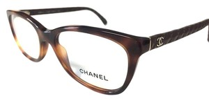 Chanel Chanel Eyeglasses Leather Havana Brown Authentic with Case NWOT