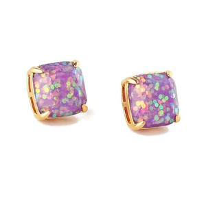 Kate Spade NEW Kate Spade New York Pale Purple Glitter Studs Earrings