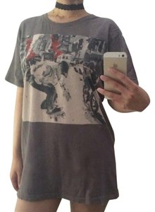 Urban Outfitters Vintage Graphic Print Dress T Shirt grey