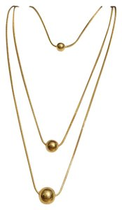 Avenue Avenue Multi Strand Gold Tone Floating Pendant Necklace