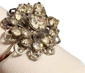 Sarah Coventry Adjustable Sarah Coventry Silver Tone Crystal Glass Ring