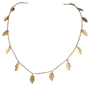 Avon Gold Tone Leaf Charm Necklace Strand Chain By Avon