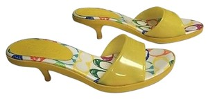 Coach Nichelle Rubber Yellow Pumps