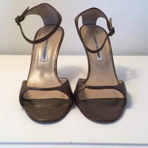 Manolo Blahnik Bronze Pumps
