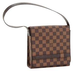 Louis Vuitton Clutch Tribeca Carre Lv Damier Ebene Clutch Shoulder Bag