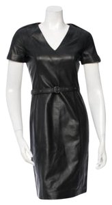 Burberry short dress Black Leather on Tradesy