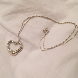 Tiffany & Co. Elsa Peretti Open Heart Pendant With .03 Carat Center