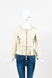 RED Valentino Leather Beige Jacket