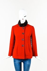 RED Valentino Brown Red Jacket
