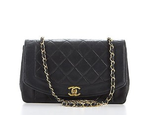 Chanel Vintage Lambskin Quilted Leather Cc Lock Chic Shoulder Bag