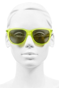 Saint Laurent Saint Laurent 54mm Neon Yellow Retro Women Sunglasses