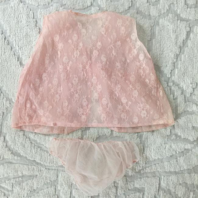 Other Sheer Lace Top pale pink