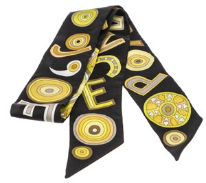 Hermès Hermes Black Multicolor Tohu Bohu Twilly Scarf