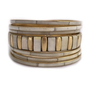 Shop One Twenty Brass Bone Bohemian Stacking Bangle Bracelets