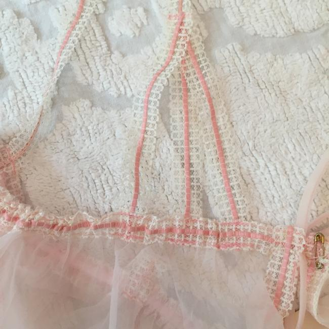 Other Lace Sheer Vintage Top pale pink