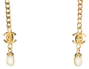 Chanel Chanel Gold CC Pearl Drop Wraparound Necklace 97A
