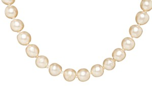 Chanel Chanel Pearl Gold CC Turn Lock Clasp Necklace 96P