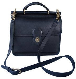 Coach Willis 9927 Leather Vintage Satchel in black