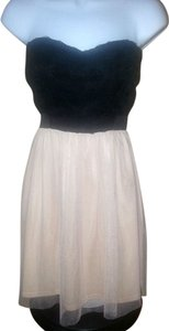 Ad Hoc Le Collezioni Strapless Empire Waist Stretchy Tulle Dress