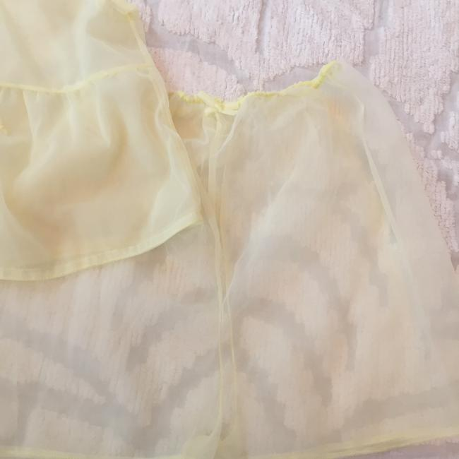 Other Vintage Lace Sheer Top pale yellow