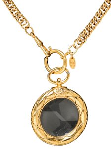 Chanel Chanel Gold Vintage Magnifying Glass Pendant Necklace