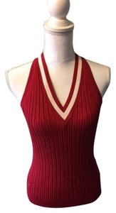 INC International Concepts Casual Top Red/cream