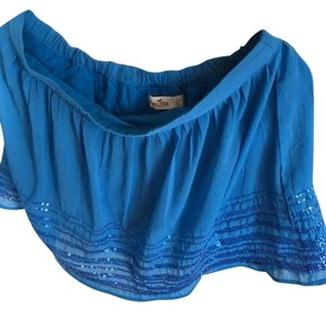 Hollister Sequin Mini Skirt Blue
