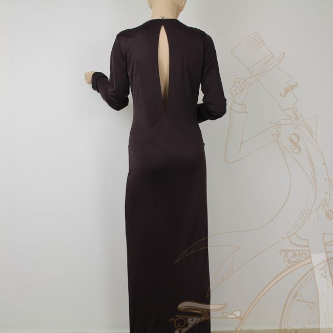 Roberto Cavalli Viscose Deep Plunge Open Back Long Full Length Gold Dress